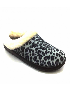 Zapatillas Casa Espuma y Gel zueco Leopardo