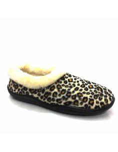 Zapatillas Casa Espuma y Gel Cerrada Leopardo
