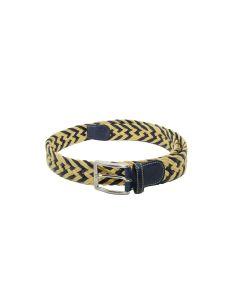 Cinturon Trenzado Bellido Mostaza/Azul